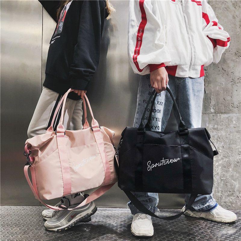 ffaa19221c10 Sports Gym Bag Men And Women Travel Portable Large Capacity Korean Yoga Bag  Messenger Bag Carry Bags Toiletry Bags From Sunnynastore