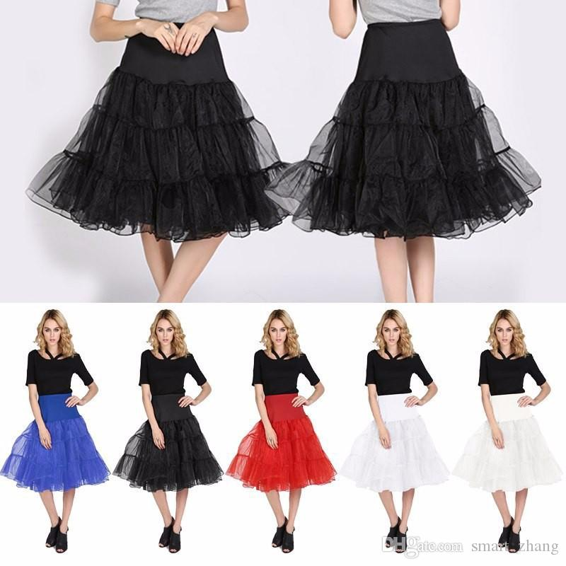 New Organza Petticoats In Stock Wedding Bridal Crinoline Lady Girls Women Underskirt Vintage Dance Rockabilly Ballet Skirt Tutu
