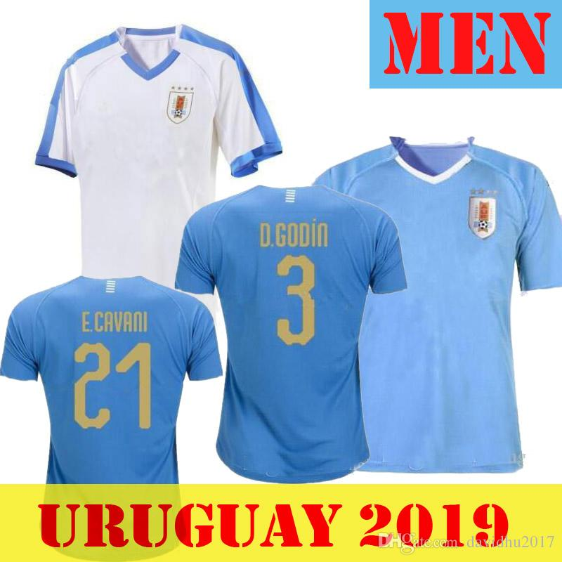 1efeefeb2 2019 2019 Uruguay Copa America Soccer Jersey 19 20 Uruguay Home L.Suarez  E.Cavani Soccer Shirt D.GODIN National Team Football Uniforms XXL From  Davidhu2017, ...