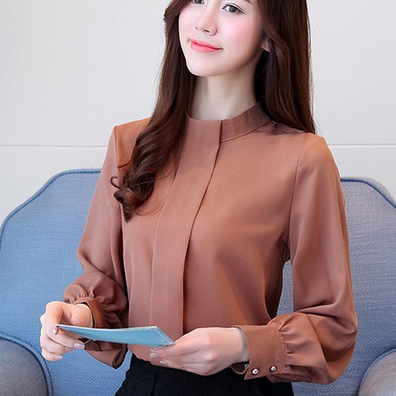 New Autumn Women Blouse Long Sleeve Chiffon Blouse Mujer Fashion ... 22f81484569e