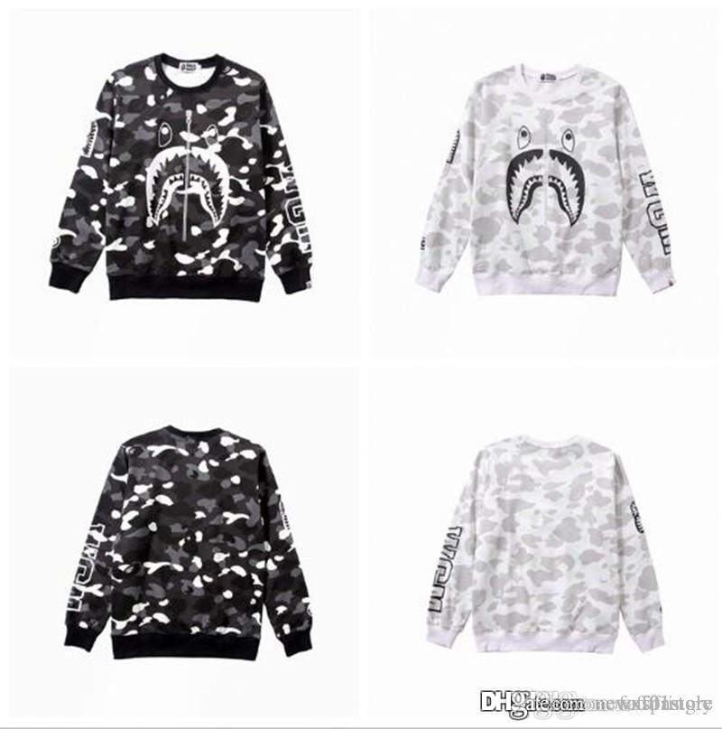 a76dff83 2019 2018 Unisex Hot A Bathing A Ape 18Bape Monkey Head Casual Round Neck  Hoodie Pullover Sweater Camo Sweater Pullovers Thick Sweatshirt Coat From  ...