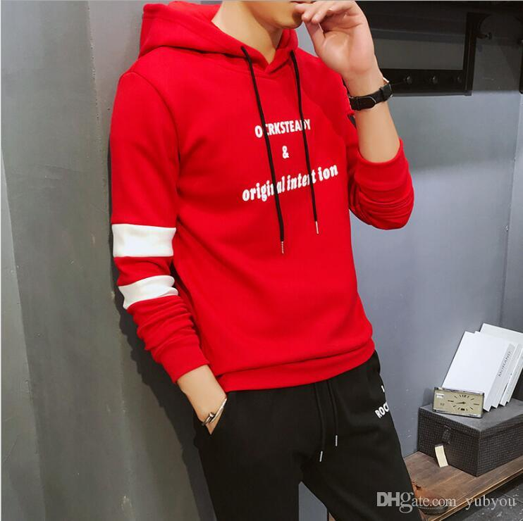 8d1f26aeea2 2019 Spring And Fall New Men Sportswear Hoodie And Sweatshirts ...