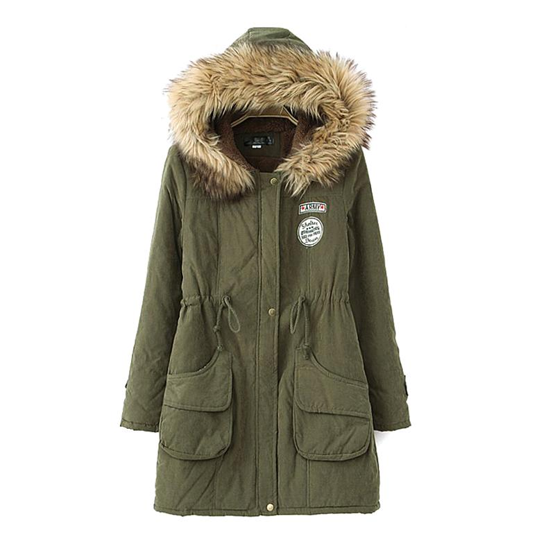 Parkas Weibliche Frauen Winter Verdicken Mantel Mode Baumwolle Winterjacken Damen Outwear Mantel Parkas Casaco Feminino