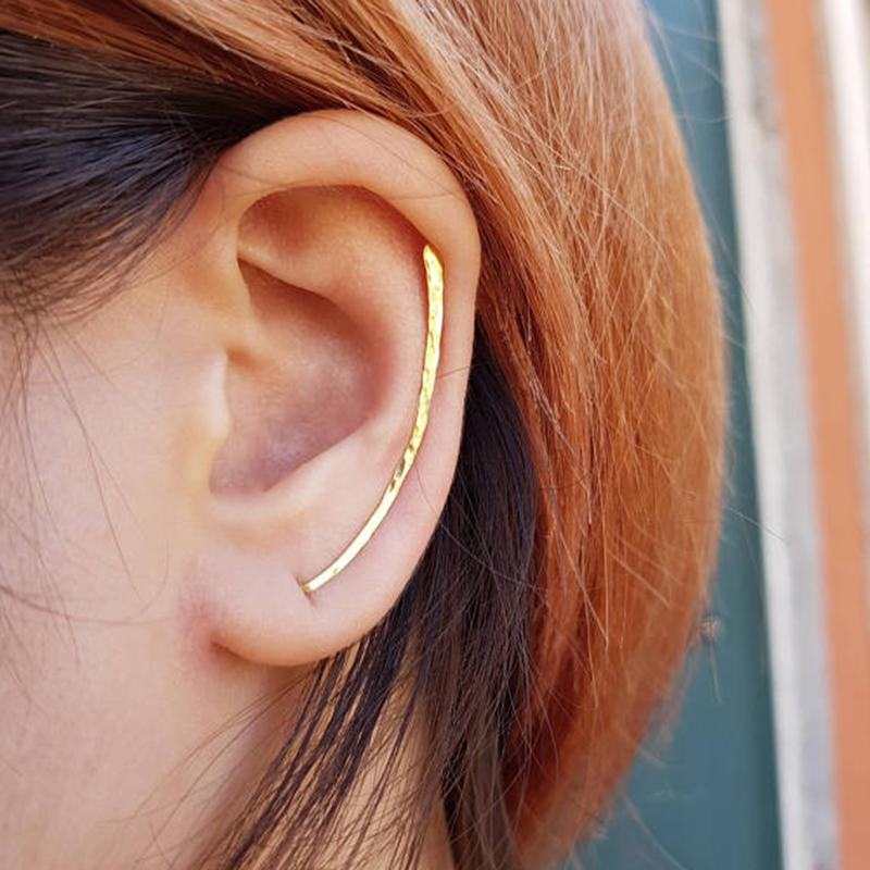 8cf1067a8d77f 2019 Hammered Ear Climber Earrings Custom Handmade Crawler Bar Pins ...