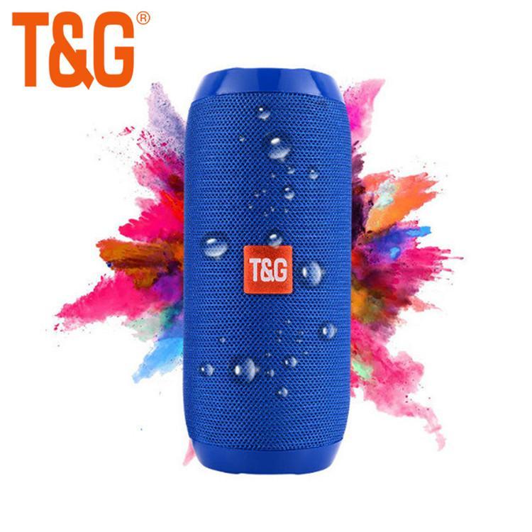 TG117 Sem Fio Bluetooth Speaker portátil coluna Subwoofer Estéreo coluna + TF Embutido Mic Bass FM MP3 Caixa de Som Boom