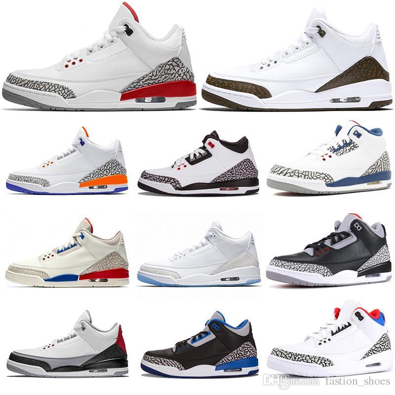 newest collection 88659 97d25 nike air jordan retro 3 Knicks Rivals 3s Mocha homens tênis de basquete III  Katrina Wlof Cinza Branco Puro Preto Cimento Vermelho GRATO Infravermelho  ...