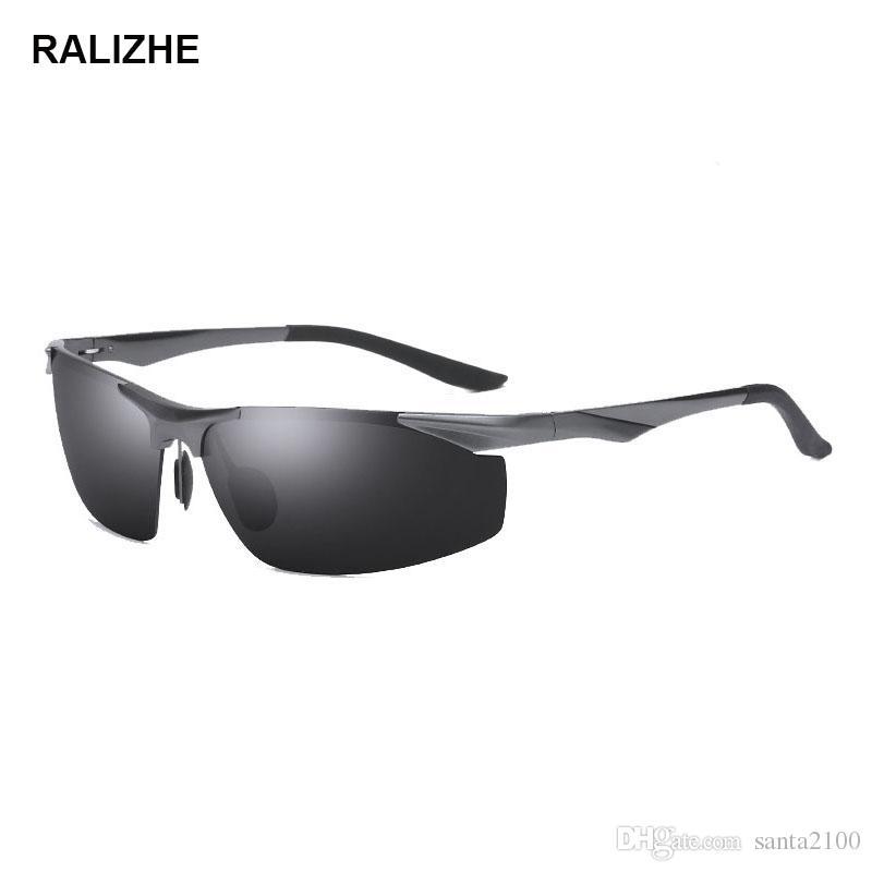 9cd9973ee8 Compre RALIZHE Gafas De Sol Para Hombres Lentes Polarizadas UV400 Aleación  De Metal Vintage Gafas De Sol Diseñador De La Marca Gafas Masculinas Para  ...