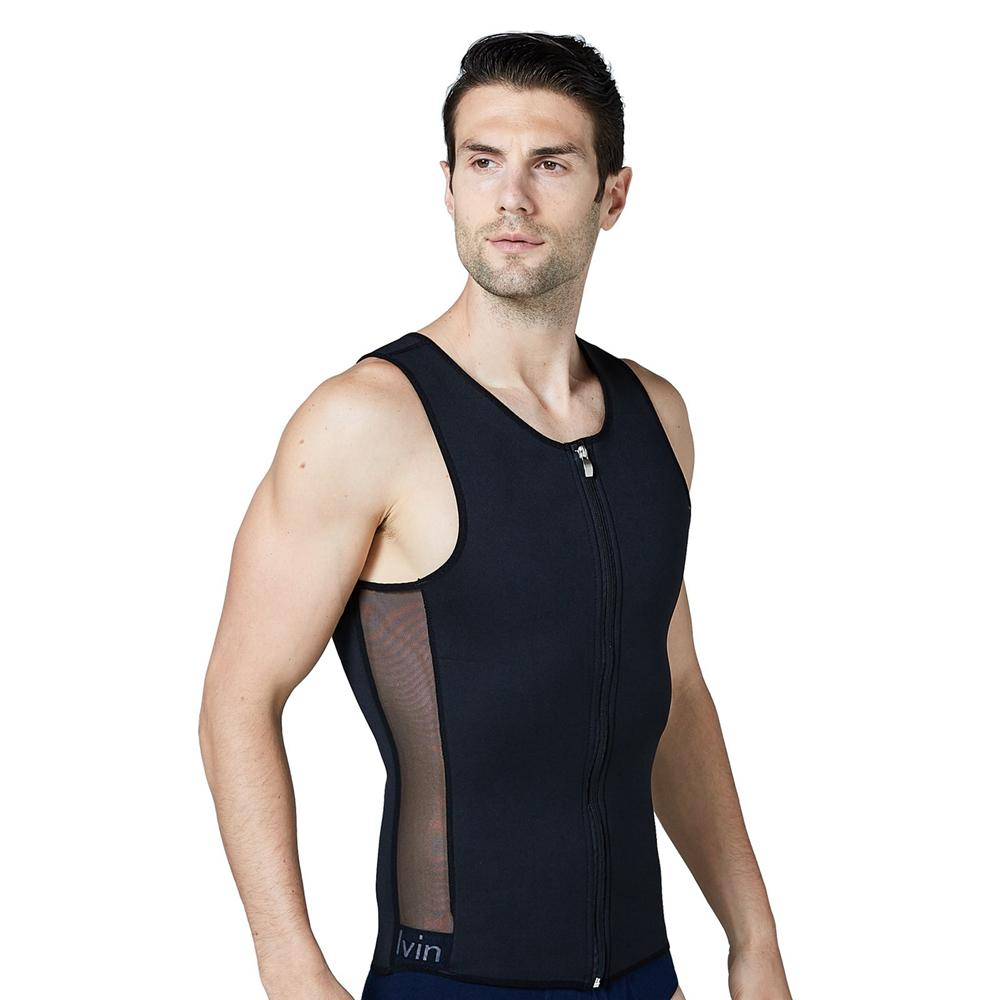 710fbefe950f63 2019 Belly Men Slimming Vest Neoprene Shaper Men S Sweat Vest Thermo  Abdomen Corset Sauna Suit Super Stretch Shapewear Tank Tops From Yuhuicuo