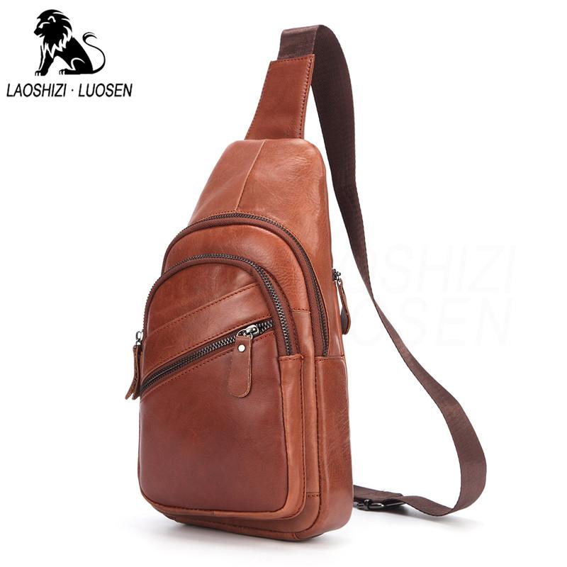 Genuine Leather Shoulder Bags For Men Fashion Small Messenger Crossbody Bags  Male Female Sling Bag Chest Cow Leather Solid Cheap Designer Bags Satchel  ... 62d7cd61d9a81