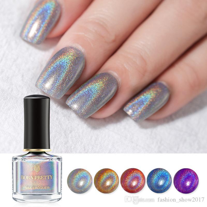 BORN PRETTY 6ml Holographic Nail Polish Fast Dry Flourish Series ...