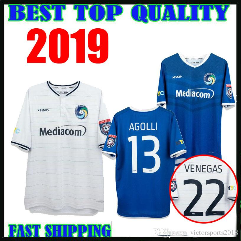 9fb246c1f Classy New York Cosmos 2019 Soccer Jersey Home White Away Blue ...