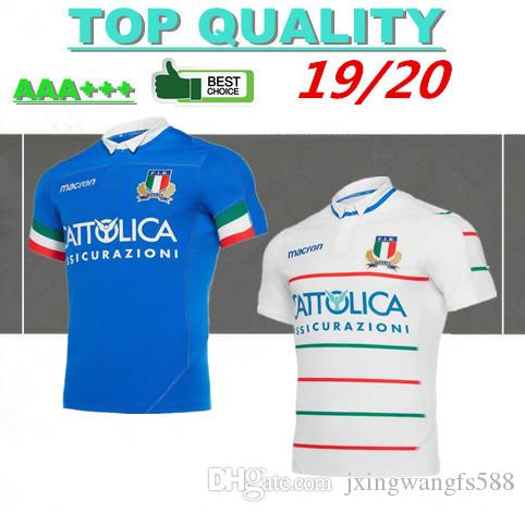 ad616a9a01f 2019 2020 Italy Home Blue Away White Rugby Jerseys Fir Shirt