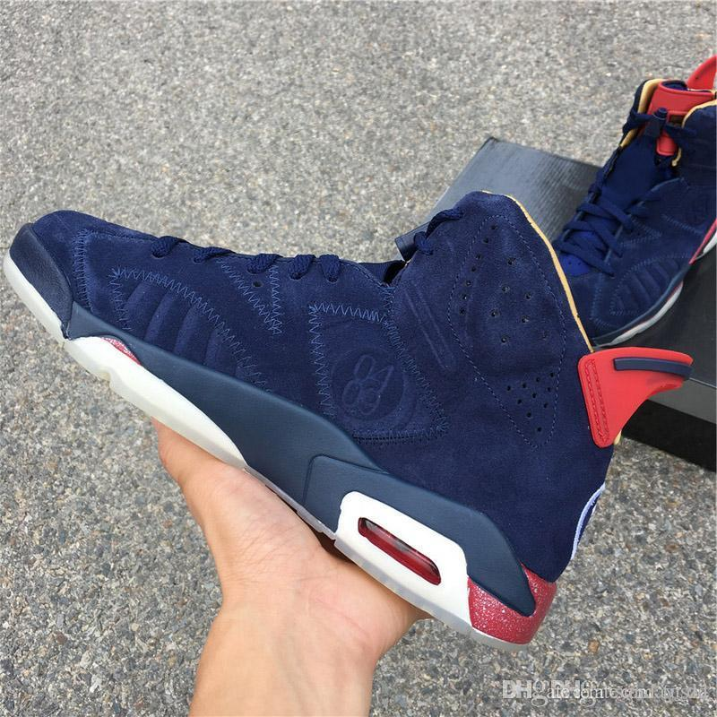 159982d1e89b 2019 2018 Hottest Sale 6 Doernbecher 6S DB VI For Man Basketball Shoes Midnight  Navy Red Metallic Gold White Sports Sneakers Authentic With Box From ...