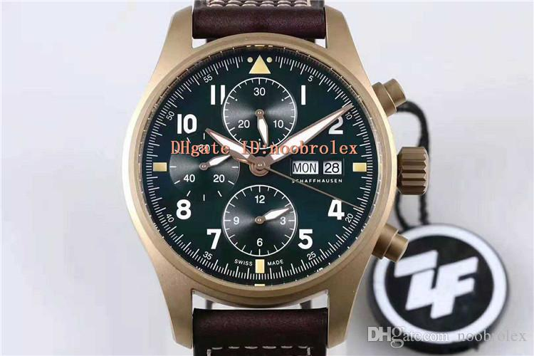 ZF SPITFIRE CHRONOGRAPH 387902 Watch ETA 7750 Automatic 28800 vph Date day display CNC Bronze Case sapphire Super luminous Water Resistant
