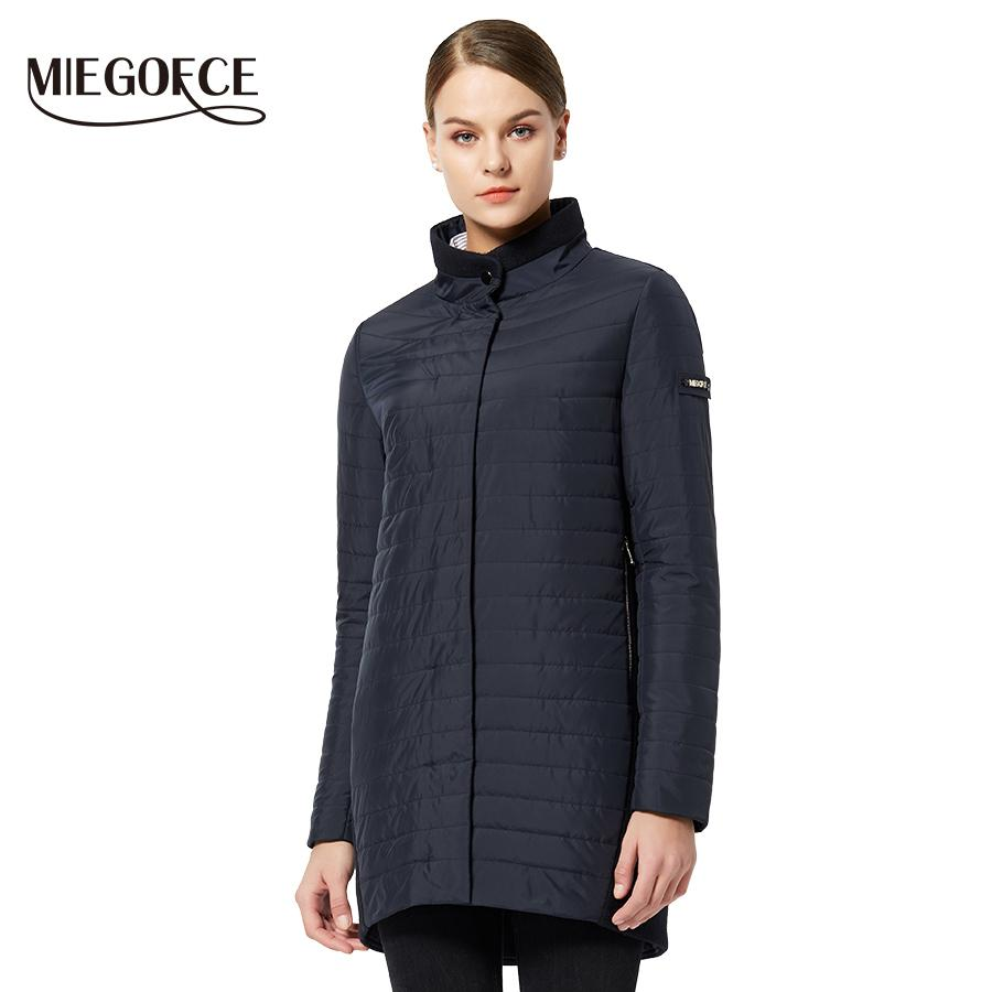 MIEGOFCE 2019 The New Spring Collection Warm women's Jacket With A Standing Collar Simple Woman's Quilted Coat mom stylish model Y190830