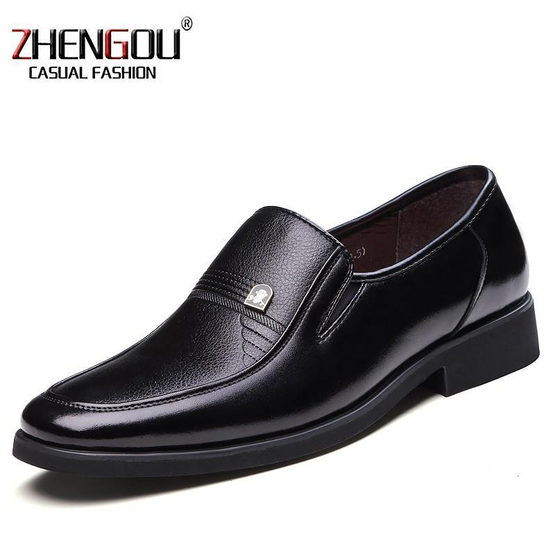 ZHENGOU Classic Men Dress Black Luxury Mens Business Casual Oxfords 771  Oxford Shoes For Hot Sale Leather Flat Wedding Shoes Black Shoes Nude Shoes  From ... f5b01952314