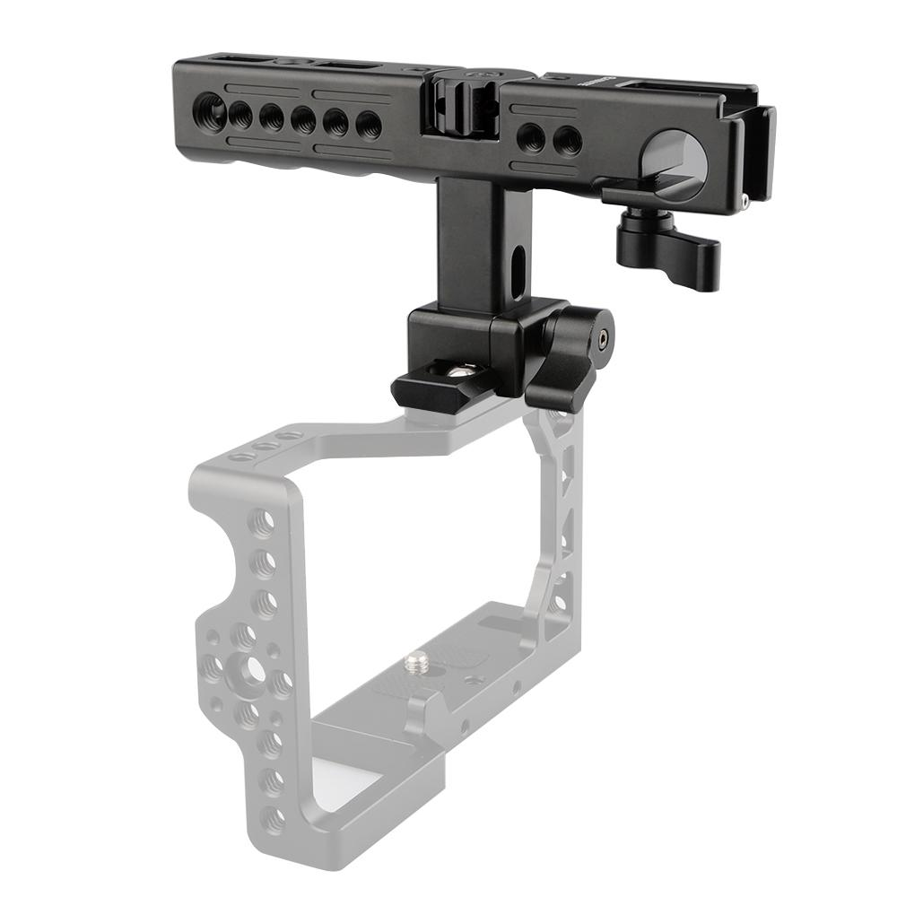 CAMVATE_QR Top Handle_Hot Cold Shoe_15mm Rod Clamp _Sony A6500 Cage (3)