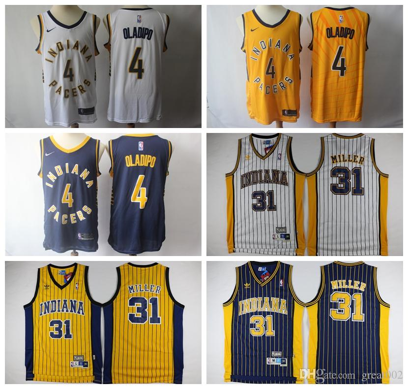 on sale 0b709 4a909 2019 Retro 2019 Indiana Basketball Pacers Jersey 4# Victor ...