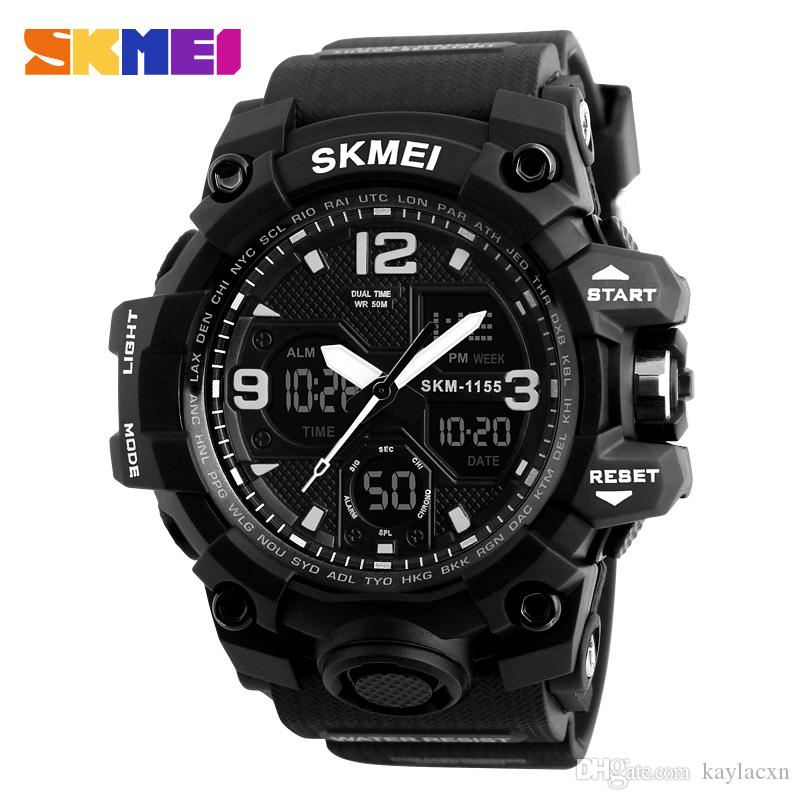 Digitale Uhren 2018 Neue Marke Sanda Uhr Männer Military Sportuhren Fashion Silikon Wasserdichte Led Digital Uhr Für Männer Uhr Reloj Hombre