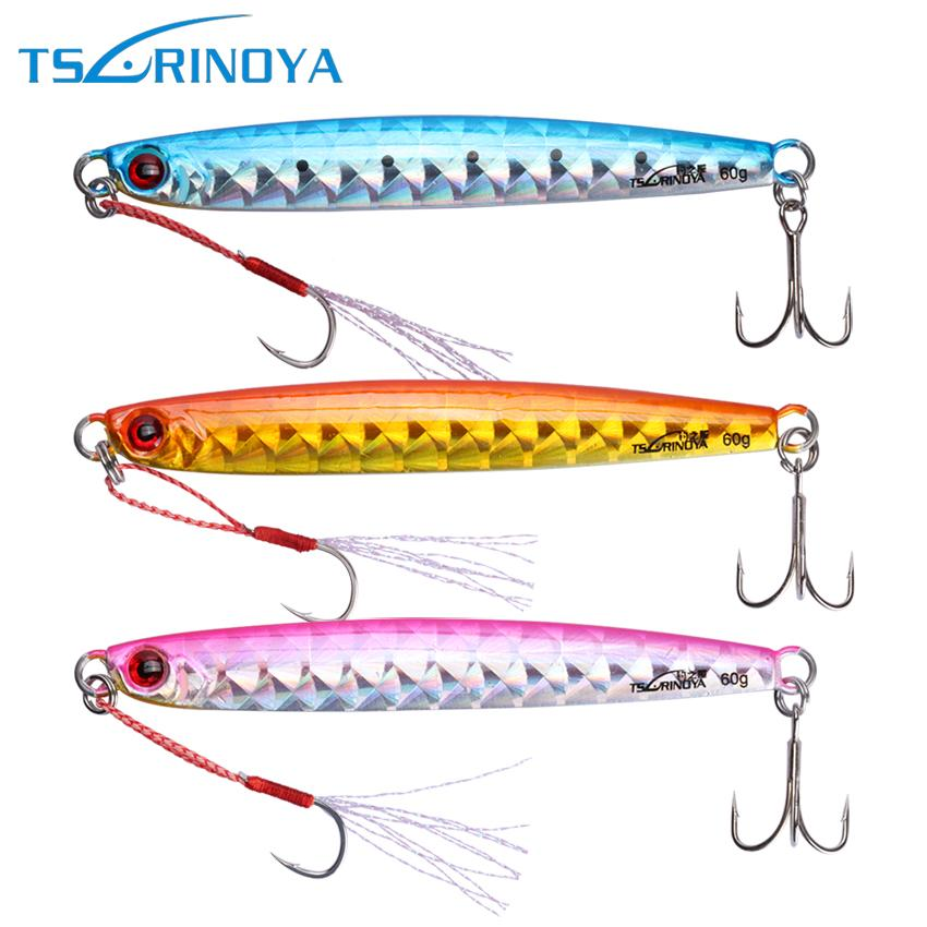 lures sea Tsurinoya 3pcs/lot Metal Ji Fishin Lure 20g/30g/45g/60g Jigging Lead Fish Wobbler Artificial Hard Bait For Trolling Fishing