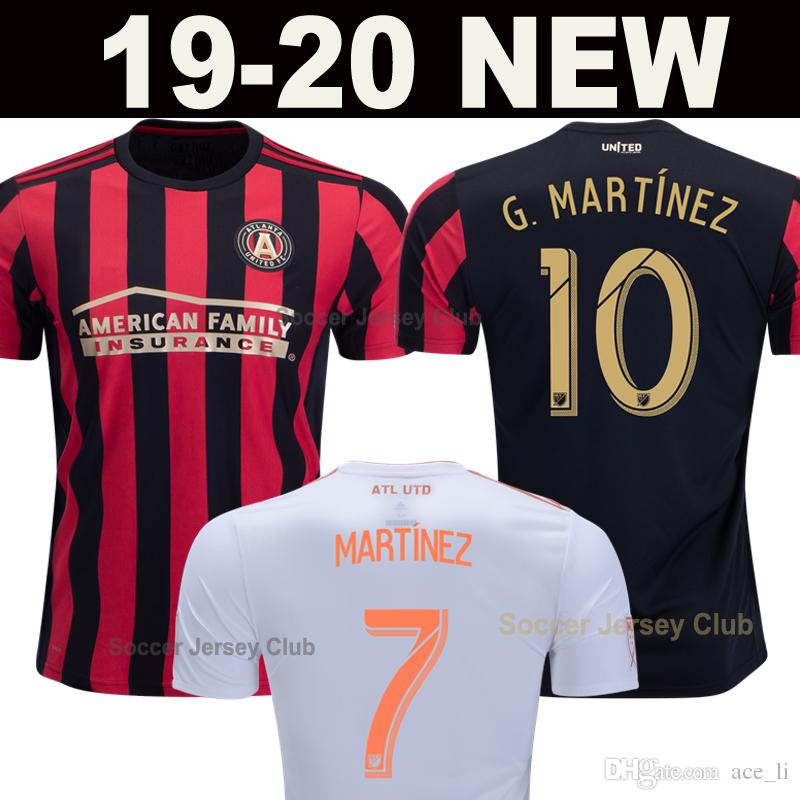 sports shoes 9251e c9a7b Atlanta United 2019 2020 soccer jersey Home Kit MARTINEZ VILLALBA BARCO  LARENTOWICZ G.MARTINEZ FC 19 20 away football shirt thailand quality