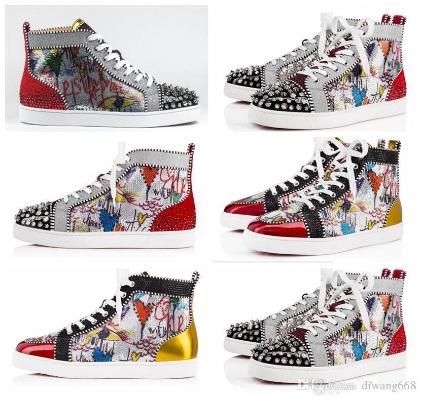 Y Fondo Límite Deporte Nuevo Zapatos Impresión Plata De Tachuelas Lujo Diseñador Mujer Pik Sin Hombre Zapatillas Rojo rWxBoedC