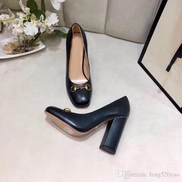 progettista bovina signora tacchi alti Sexy Bar banchetti tacco alto scarpe da barca delle donne di lusso Super scarpe tacco alto in metallo pelle Abito scarpe 34-41