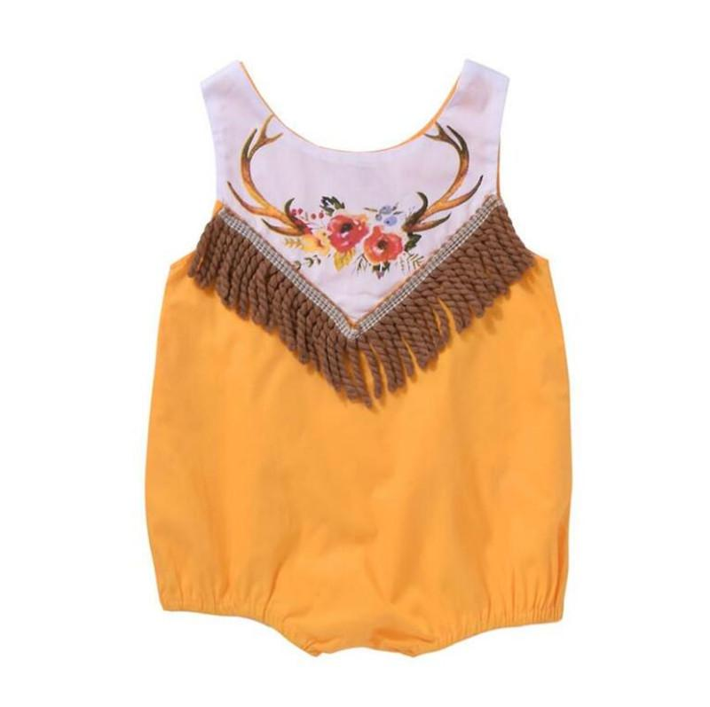 85f7ad1e8b0c 2019 Cute Newborn Baby Girl Rompers Tassel Sleeveless Jumpsuit Back Zipper  Romper Toddler Clothing Kids Sunsuit Outfit Baby Girl Clothes From Leilar