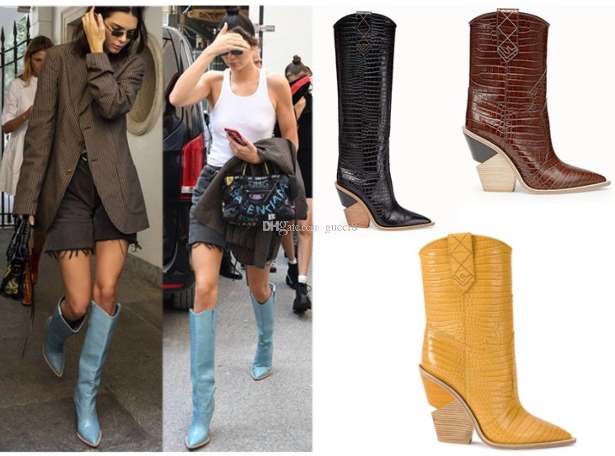 New Winter Wedge Boots Woman Full Grain Leather Fashion Hot Womens Half Booties Size 42