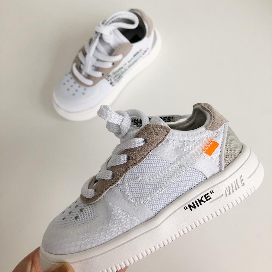 Nike Air Force 1 y niñas de las mujeres de la fuerza aérea de baja presión 1 zapatos deportivos blancos puros niñas entrenador de los niños que se