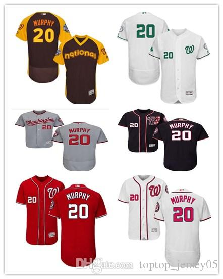 c01955aff 2019 2018 Washington Nationals Jerseys  20 Daniel Murphy Jerseys Men  WOMEN YOUTH Men S Baseball Jersey Majestic Stitched Professional  Sportswear From ...