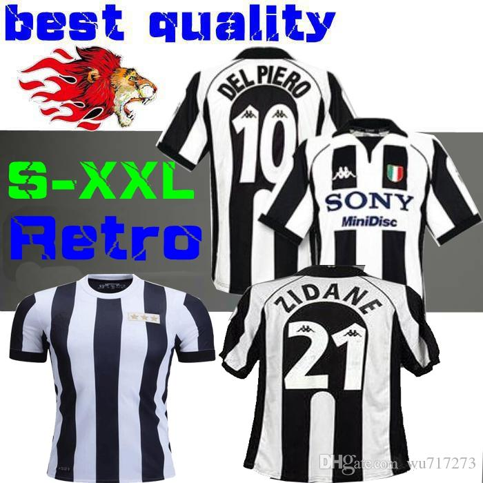 84b3ce4a1e1 1997 1998 Juventus ZIDANE RETRO SOCCER JERSEYS DEL PIERO 97 98 JERSEY  INZAGHI Deschamps FOOTBALL SHIRTS 120th Anniversary UK 2019 From Wu717273