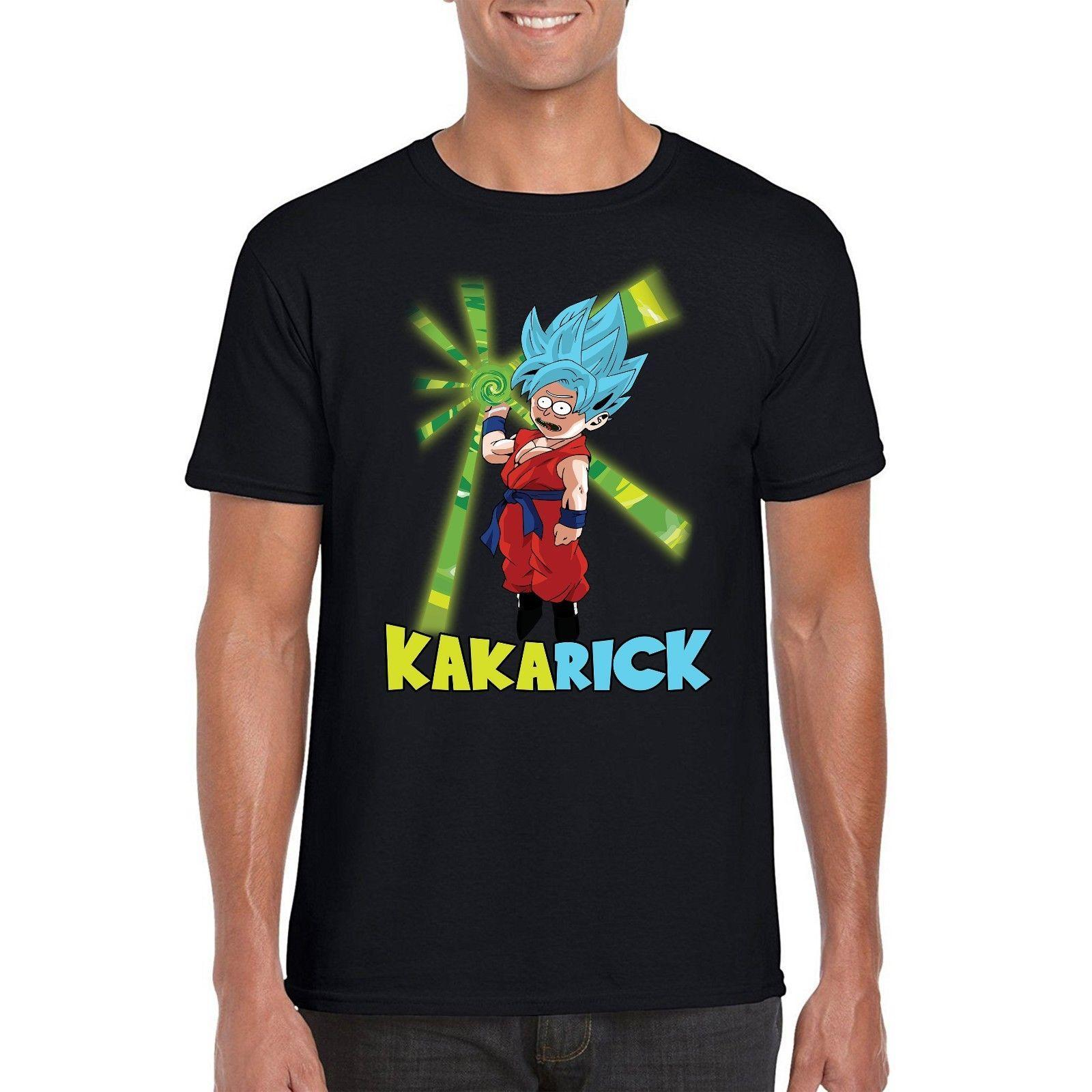 d2d814bc Rick And Morty T Shirt, Dragon Ball Z Super Saiyan KakaRick Inspired Tee  Top Crazy T Shirt Design Comedy T Shirt From Yubin06, $25.33| DHgate.Com