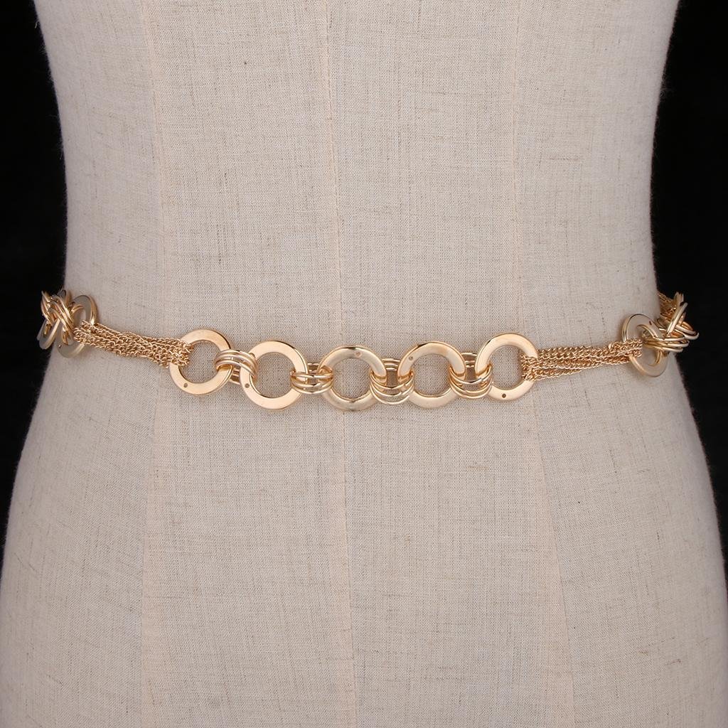 344abacd3ee Women s Stylish Metal Belly Chain Waistband Body Charm Dress Belt Necklace
