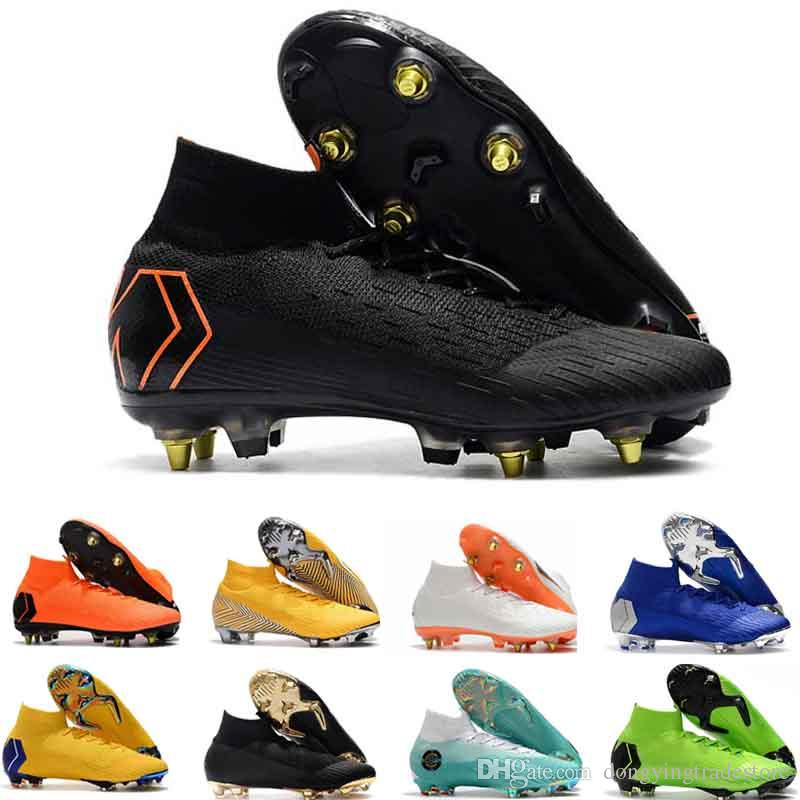 e98b2964d 2019 Mens High Ankle Football Boots CR7 Superfly KJ VI 360 Elite FG Soccer Shoes  Superfly ACC Cristiano Soccer Cleats From Dongyingtradestore
