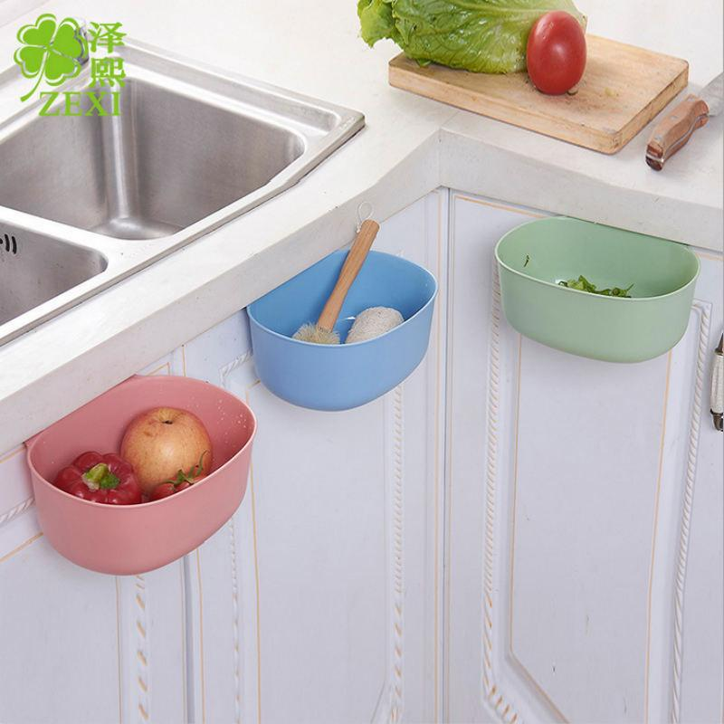 Multifunction Doors Cabinet Hanging Storage Box Kitchen Garbage Can  Bathroom Cosmetic Organize Container Desktop Trash Bin