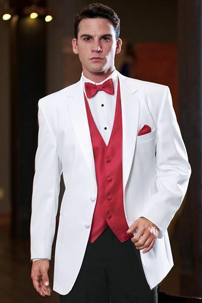 24d8ce3be3dc Niza Últimos Diseños de Pantalones de Abrigo Blanco Hombres de Satén Traje  Chaleco Rojo Trajes de Boda Para el Novio Mejores Hombres Traje de ...