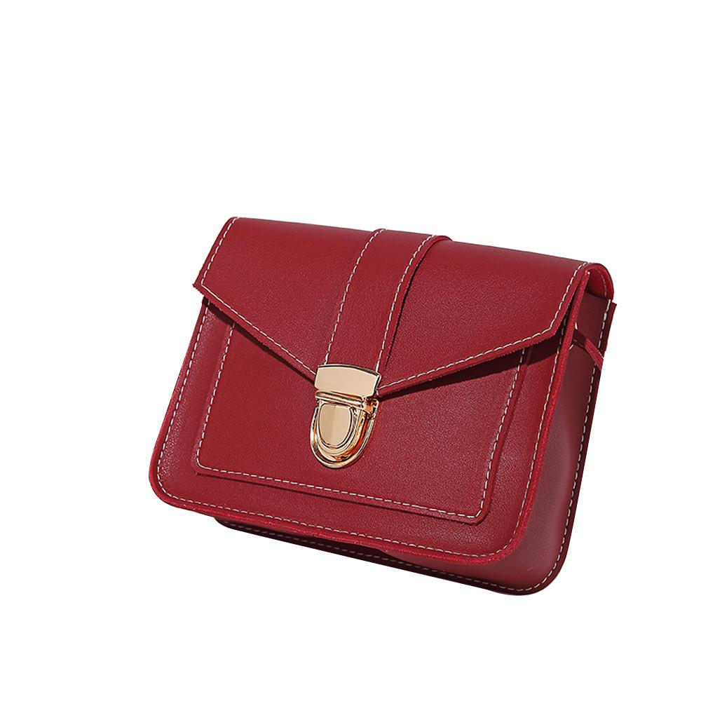 5f6131c156a5 Cheap Fashion2019 Hot Sale Simple Flap Shoulder PU Leather Bags Women Girls  Bowknot Pure Color Mini Messenger Crossbody Handbags 18Oct Leather Backpack  ...