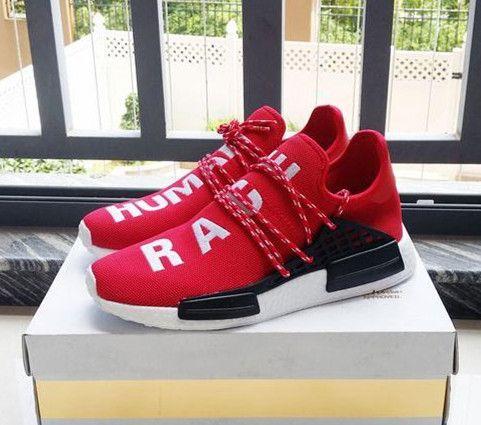 5efc065b75420 2019 Human Race HU Trail Running Shoes Mens Women Pharrell Williams Runner  Yellow Black White Red Green Grey Blue Sports Sneakers Size 36 46 From  Zeboss