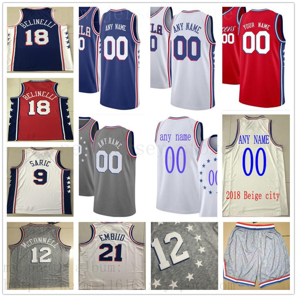 low priced 5e1c0 0921c Custom Printed Philadelphia Tobias 33 Harris Boban 51 Marjanovic Jonathon  14 Simmons Mike 1 Scott Zhaire 8 Smith 76ers Jersey