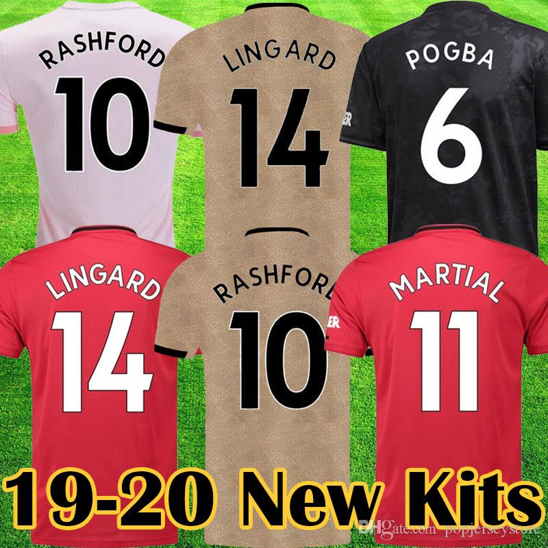 buy online 9dfe4 0331f Manchester 2019 2020 RASHFORD MARTIAL POGBA Pink united Soccer Jersey  LUKAKU Kids jerseys kit Man Football Shirt UTD 19 20 Quality equipment