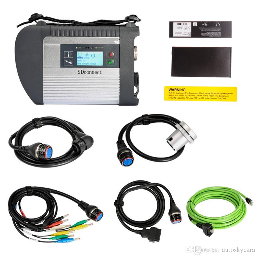 MB Star C4 with 5 Cables SDconnect Diagnosis Multiplexer Support Cars and  Trucks Latest Version 2019 05 with Vediamo and DTS