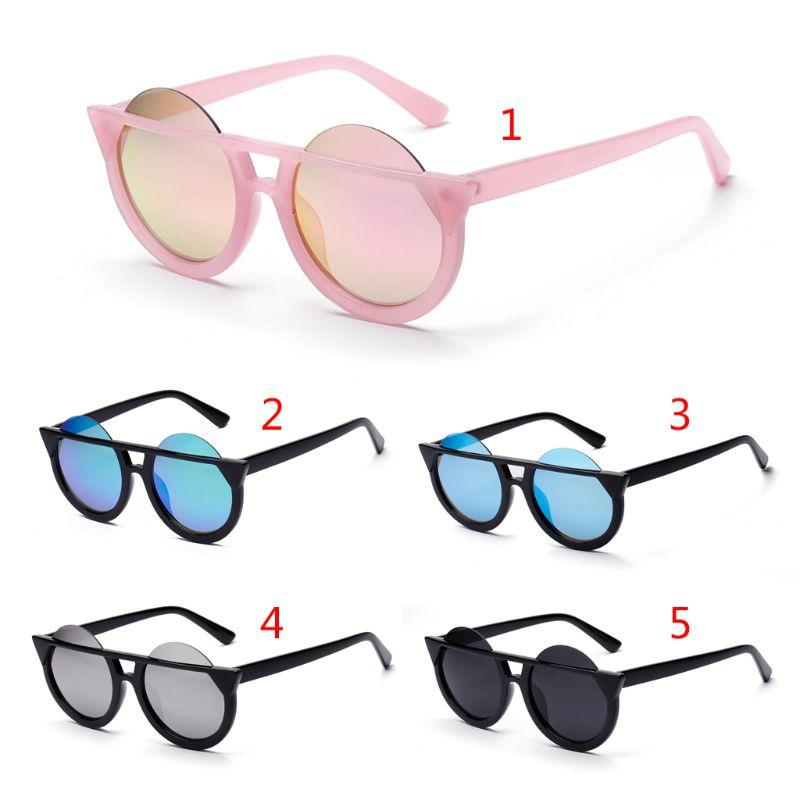 2b7b6ad610660 Cat Eye Sunglasses Round Lens Reflective Fashion UV400 Trend Vintage  British Style Pop Chic Sun Glasses Eyewear Women Men Mirrored Sunglasses  Heart ...