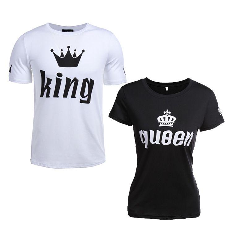 King Stampa Acquista T Economiche Crown Shirt Lovers Queen Summer WxorBdeC