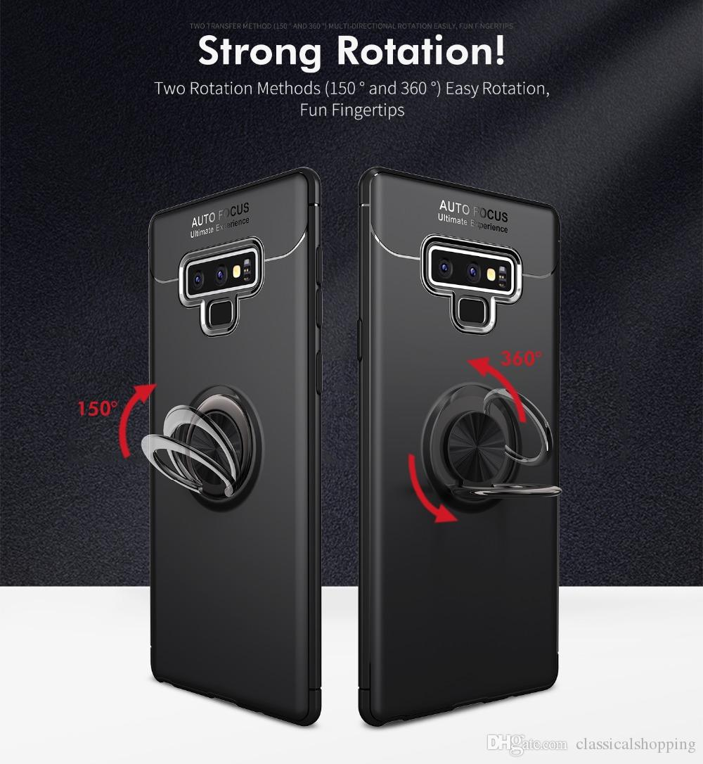 Sam sung Ga-laxy Note 9 Case Car Holder Stand Magnetic Bracket Ring TPU Cover Case For Sam sung Note 9 housing