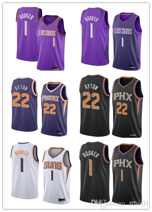 cheaper 5172d 983ca 2018-2019 Phoenix Men's Suns jersey Swingman Basketball Jersey 1 Devin  Bookers 22 DeAndre Aytons
