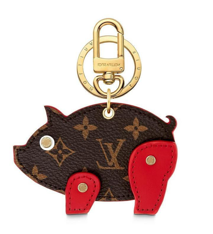 Charm Pig Bag New And Key Holder M64181 Key Holders And More Leather Bracelets Chromatic Bag Charm And Key Holder Scarves Belts