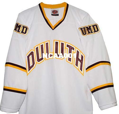 new styles 0e808 e6687 Real Men real Full embroidery Minnesota Duluth Bulldogs Hockey Jersey 100%  Embroidery Jersey or custom any name or number Jersey