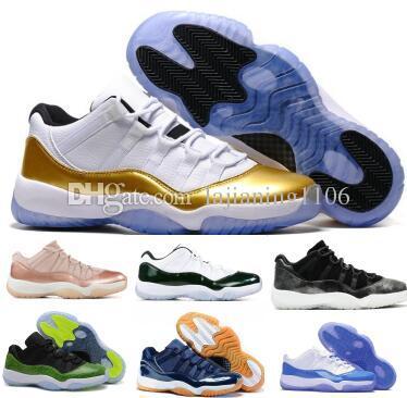 ea15096a4abb 2019 11 11s Basketball Shoes Sneaker Low Men Women Gold Bred Space ...