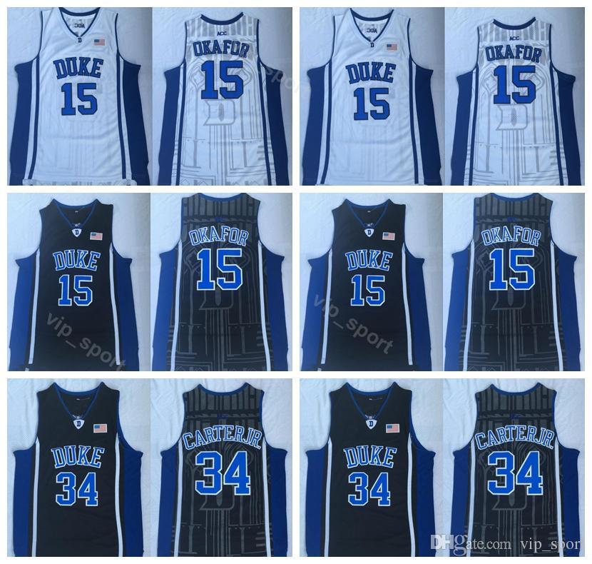 6045bc42ac32 2019 Duke Blue Devils College Wendell Carter Jr Jerseys 34 Men Basketball  Jahlil Okafor Jersey 15 University Breathable Team Black Blue White From  Vip sport ...